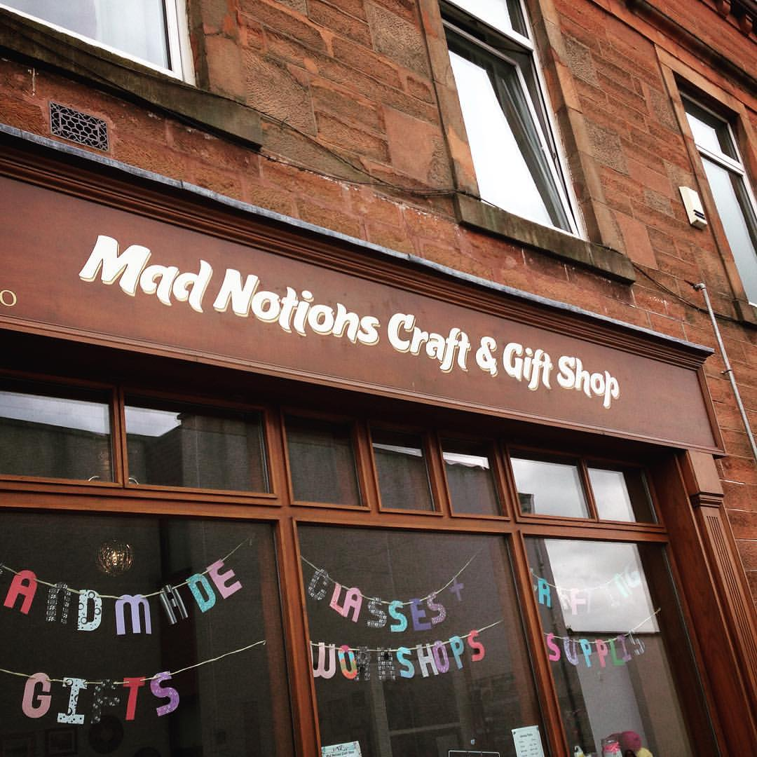 Sign Writing | A1 Graphics Ltd vehicle wraps and signage - Services / What - Building Signage - Mad Notions Craft Shop