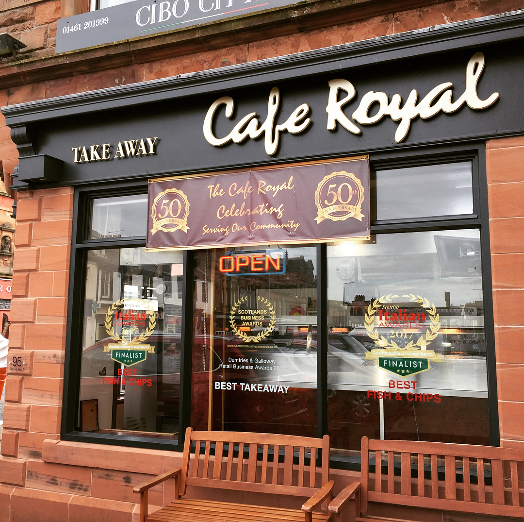 Sign Writing | A1 Graphics Ltd vehicle wraps and signage - Services / What - Building Signage - Cafe Royal