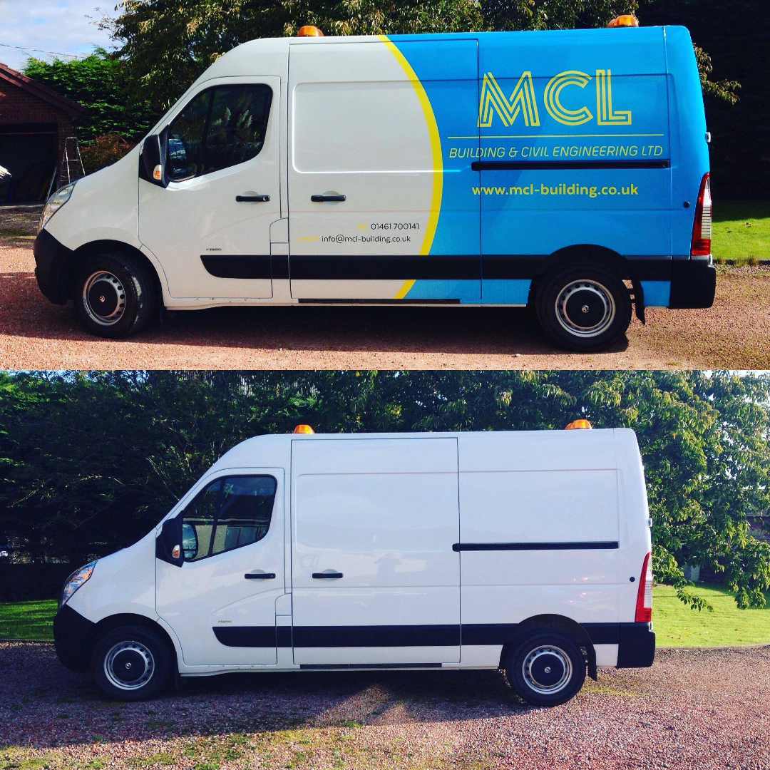A1 Graphics Ltd vehicle wraps and signage - Services / What - Signage - Partial Vehicle Wrap - MCL