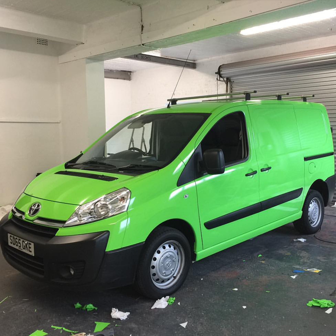 A1 Graphics Ltd vehicle wraps and signage - Services / What - Signage - Full Vehicle Wrap / vehicle Wrapping - Green Van