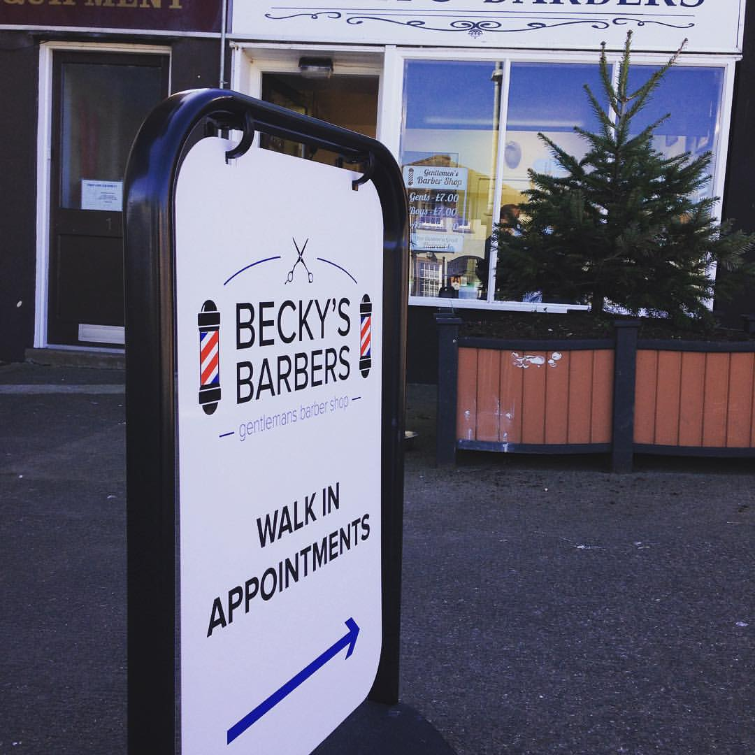 A1 Graphics Ltd vehicle wraps and signage - Services / What - General Signage - Becky's Barbers