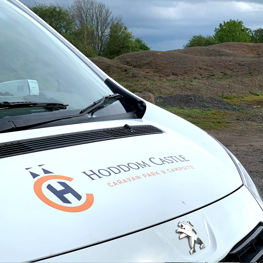 A1 Graphics Ltd vehicle wraps and signage - Services / What - Signage - Partial Vehicle Wrap / vehicle Wrapping - Hoddom Castle