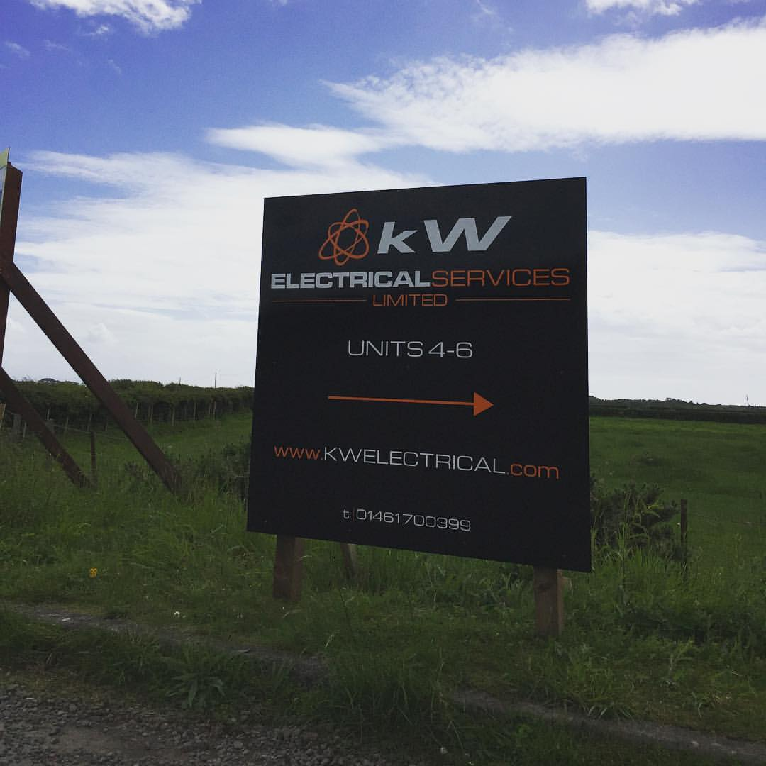 A1 Graphics Ltd vehicle wraps and signage - Services / What - General Signage - KW Electrical