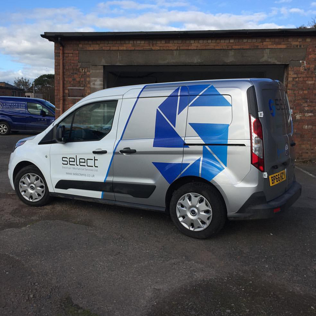 A1 Graphics Ltd vehicle wraps and signage - Services / What - Signage - Partial Vehicle Wrap - Selete